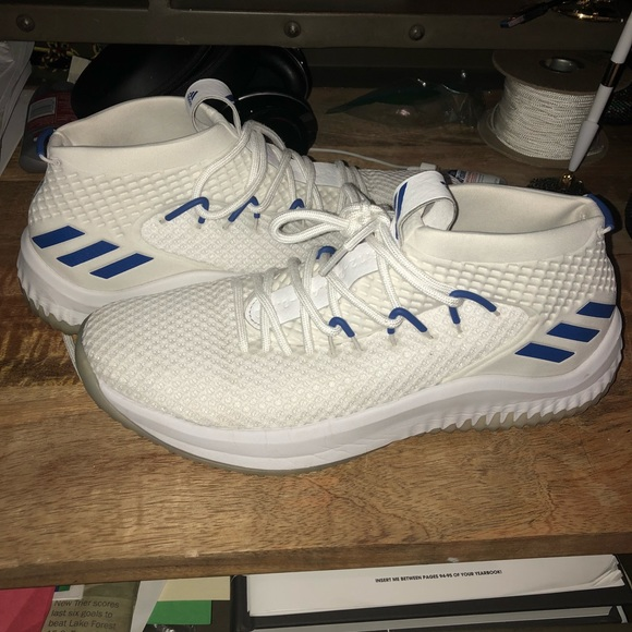 adidas Other - Adidas Dame 4 White Blue size 11 d2d9e5ded